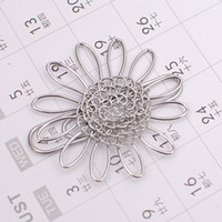 metal sunflower - A1 SUOWER PAPER NOTE CARD CLIP PRACTICAL NOVELTY CREATIVE STAINLESS WIRE HAND MADE ART CRAFTS WEDDING BIRTHDAY HOME OFFICE GIFT PRESENT