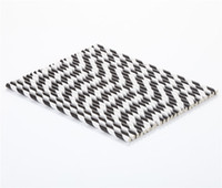 Wholesale 25 stripe paper straw BLACK C Holiday articles party supplies new items drinking straws bar and kitche