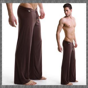 Brand Men Yoga Pants Ice Silk Sport Pants Straight Slip Fitness ...