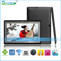 Wholesale Xmas gift Inch ATM7021 Dual Core MID Q88 dual camera Kids Tablet PC Android with Wifi Webcam D HDMI Q8S Tablet PC