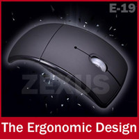Wholesale E19 USB G Wireless Optical Mouse D Folding Office Mause Mice For Laptop Notebook Computer Peripherals