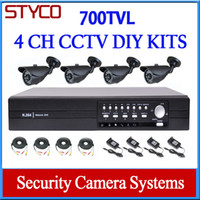 Wholesale home Video surveillance DIY KIT channel D1 DVR and Outdoor day and night Camera TVL support mobile phone surveillance