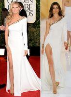 Cheap Reference Images celebrity dresses Best One-Shoulder Chiffon evening dress