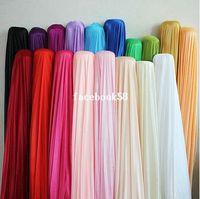 Wholesale 1 M unit corlors Pearlizing Ice Silk Curtain Wedding Birthday Party Baby Shower Decoration Satin Fabric