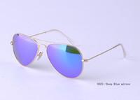 Glass Beach Wayfarer wholesale---mirror sunglasses man woman 2014 brand desdigner deep blue sunglasses freeshipping