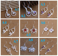 Wholesale Mix style Sterling Silver Jewelry drop Earings Brand New Mix Order Best gift Marking Lowest Price