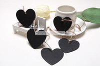 Wholesale Mini Heart Chalkboard Blackboard With String Label Tags Place Card SHB13