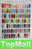 Cheap JJ605*False French Acrylic Nail Animal Half Tips Pre-Design artificial nails AIRBRUSH FASHION NAIL AR