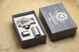 Wholesale Hammer pipe Mod Kit E cigarette E pipe Mod Mechanical Hammer battery body for thread atomizer electronic cigarette