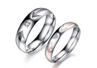 Wholesale New Arrive Titanium Stainless steel couple lover Ring Engagement Rings