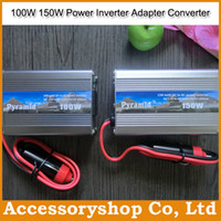 Wholesale Pyramid W W DC V to AC V Power Inverter Car Battery Adapter Converter Charge For Laptop iPhone iPad TV High Quality Free DHL