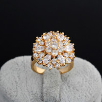 Wholesale Newest K Plating Golden Band Ring European Style Copper Finger Ring Jewelry For Wedding Gifts J0608 J B