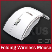 Wholesale E31 G Wireless Optical Mouse Buttons Transparent Floding Mice For Laptop Notebook Computer Peripherals