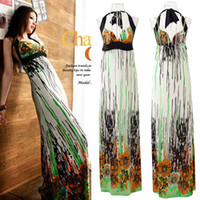 Work Bohemian Mini 2014 New woman Casual summer beach long dresses Spring Summer sleeveless sexy Dress Female fashion V-neck bohemian clothes