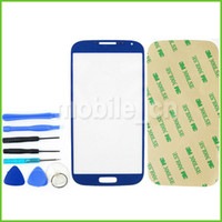 Wholesale High Quality Front Screen Outer Glass Lens Touch Screen LCD Cover For Samsung Galaxy S4 I9500 I9505 I337 Tools Adhesive Sticker Colors