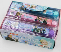 Wholesale New arrival Folding Ruler Fold Anna Elsa Frozen Ice Snow Queen Icy Star Round Rulers School Suppliers Children Kids Cartoon Ruler A300