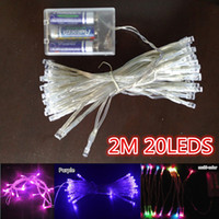 LED battery operated fairy lights - 3XAA Battery m LED String Mini Fairy Lights Battery Power Operated Pure Cold Warm white Blue Red Yellow Green Pink Purply multi color