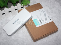 Power Bank Universal 10400mah ROMOSS Version White Color Power Bank 10400mAh Emergency Portable External Battery Pack For Smart Phone cell phone Tablet PC HUAWEI DHL free