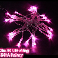 Wholesale 2M LED xAA Battery Operated LED Strings LED Garland String Lights Christmas Lights Holiday Party Decoration Portable Strings LED Lighting
