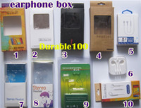 Wholesale Retail box Earphone Carton Package Packaging For Samsung galaxy iphone s s beat Headphones empty boxes up by Singapore post free