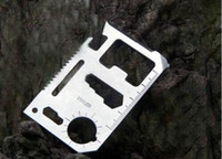 Wholesale Multi Camping Tool Credit Card Survival Knife in Can Bottle Opener pc