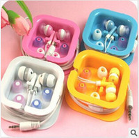 For Apple iPhone audio candies - Colourful candy mm Audio in ear earphones headset headphone earphone With crystal box for iphone ipad ipod MP3 Samsung computer CD