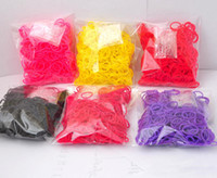 Wholesale 2014 Hottest Rainbow Loom Kit DIY Wrist Bands Rainbow Loom Bracelet for kids bands C clips Colors from gemmma