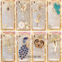 Wholesale Rhinestone Case For Apple Iphone s Iphone s Crystal Diamond Hard Back Skin Mobile phone Case Protective Shell phone cover