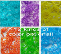 Cheap 8%off!Transparent color!Weaving various style bracelet!rainbow loom kits!14000pcs rainbow loom rubber band!DROP SHIPPING.High quality!YJ