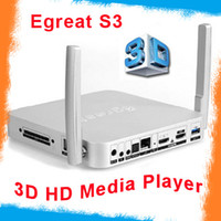 Wholesale Egreat S3 Android Smart TV Box Blu ray ISO D p full HD Media Player d blue ray hdd media player