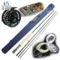 Wholesale Super price Fly Fishing Rod and Reel Outfit with Accessories have extra case pack fly fishing combos