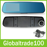 night view lens - Car DVR Video Recorder Rear View Camera inch P Dual Lens Two Cameras Blue Mirror Full HD H Angle