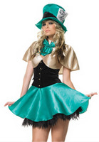 Wholesale Sexy Mad Hatter Adult Costume Ringmaster Costume Women s Circus Costumes Brand New Halloween Party Dress
