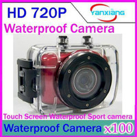 Wholesale DHL Sports Helmet Waterproof Action Camcorder HD P quot LCD Touch Screen Outdoor Camera Camcorder DV YX DV
