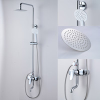 Wholesale Contemporary Style Brass Shower Faucet Set with Stainless Steel Rainhead Water Pressure Boosting Tub Faucet Shower Head