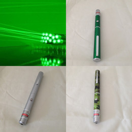 Wholesale Free DHL new mW nm GREEN Light Beam green silver Laser Pointer Pen SOS Mounting Night Hunting Teaching Lights Pointers Without Package