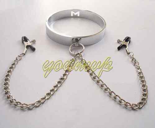 nipple clamps chain flirt bondage baqwyk