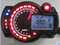 Wholesale New Backlight LCD Digital Motorcycle Speedometer Odometer Motor Bike Tachometer Koso Similar