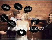 April Fool's Day Event & Party Supplies,Hat Yes New Product ! Wedding ideas photo MINI CHALKBOARD SIGNS with SKEWERS MINI BLACKBOARDS WEDDING Party Decorations