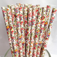 Event & Party Supplies flower paper straws - flower drinking paper Straws Party Supplies and wedding supplies flower paper straws