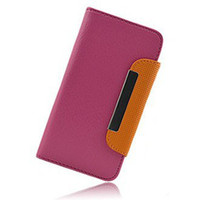 For Apple iPhone Leather White Wallet Style With Card Holder Leather Case Mobile Phone Case For iPhone 5 5s Free Shipping