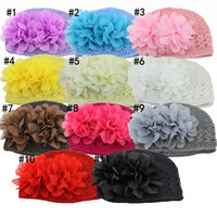 Boy Winter Newborn Hat Wholesale free shipping Baby Crochet Hats Boy And Girl Cute Warm Winter Cap Kids Knitted Caps Fashion Knitted Cap Peony children's hats