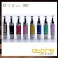 Replaceable 3.0ml Glass 10 pcs Aspire ETS Glass BDC Atomizer 3ml Bottom Dual Coil Replaceable ET-S BDC Clearomizer Glass Version for E-Cigarette Replacement Tank