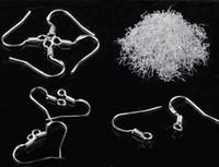 Wholesale 200pcs Sterling Silver Wire Earrings Hooks DIY Findings Bulks Earrings Jewelry Women