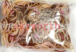 Wholesale DIY Loom bands Kit Skin color Wristband rubber Bands Bracelet bands S C clips Kids Gift