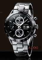 Wholesale 2015 HOT hot sale Christmas gift automatic top brand stainless steel black dial mens Mechanical Watches T172