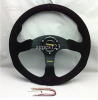Wholesale MOMO Racing Steering Wheel Suede Leather and Retail top sale