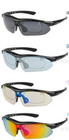 Red Blue Polarizing Spot wholesale blasting outdoor sun polariscope Cycling glasses suit Convertible sports glasses 10set lot