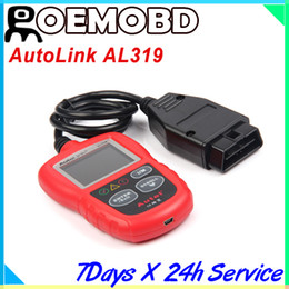 Wholesale Autel AutoLink AL OBD II CAN Code Reader Auto Link AL319 update online Emissions readiness check and drive cycle verification