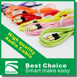 Wholesale 3 mm AUX Audio Cables Male To Male Stereo Car Extension Audio Cable For MP3 For phone Colors pec DHL